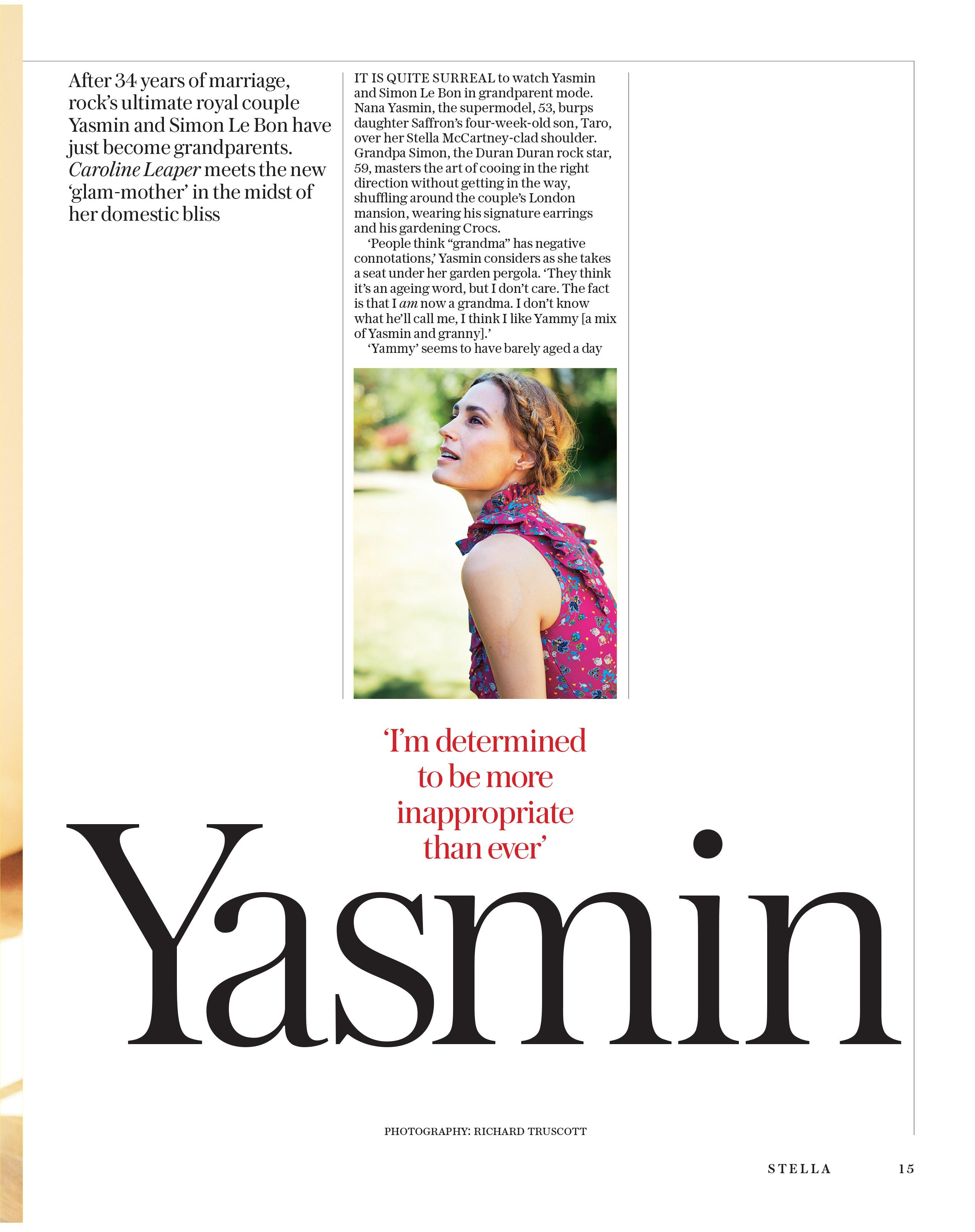 Yasmin Le Bon Sunday Telegraph Magazine_15-07-2018_Main_1st_p15