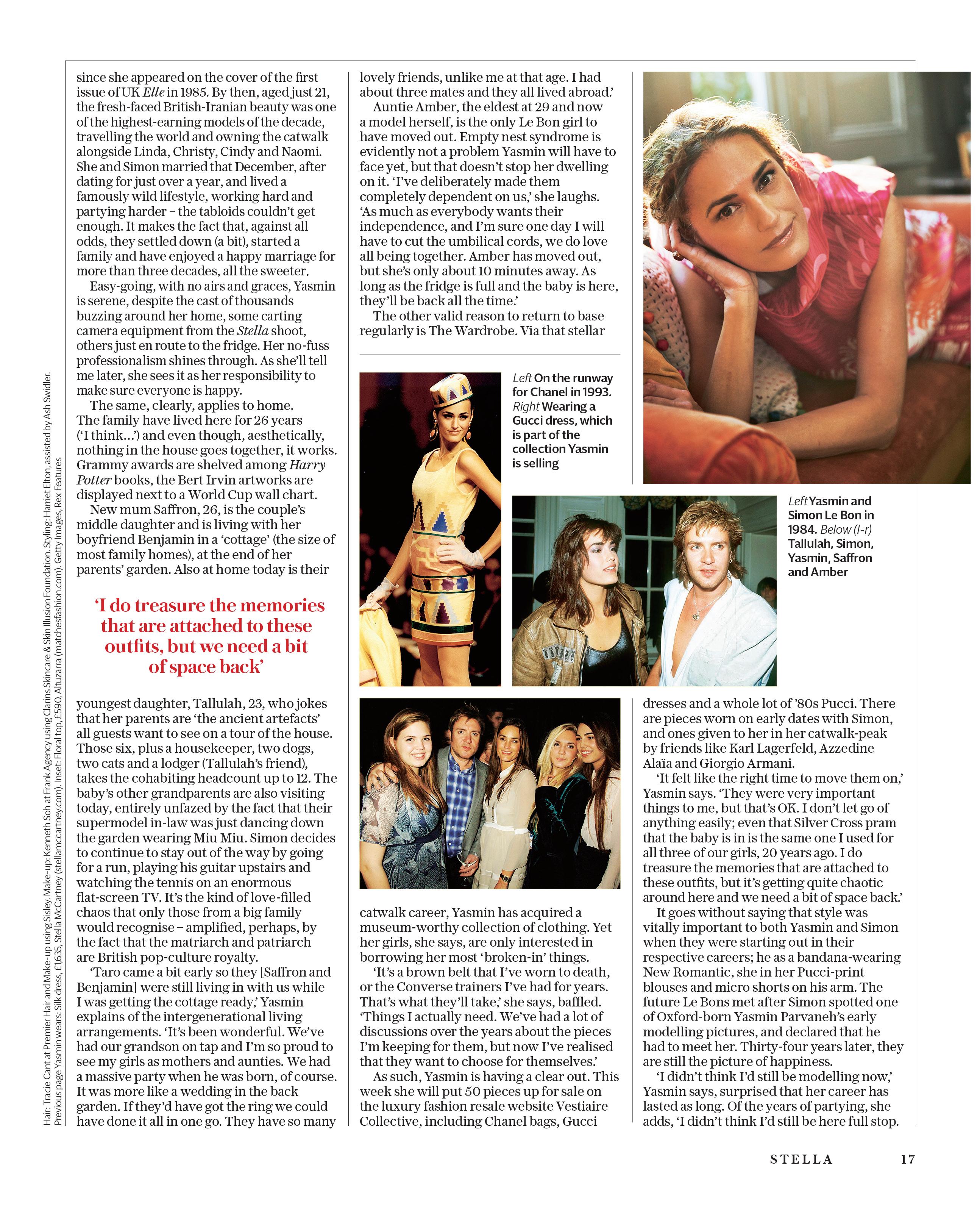 Yasmin Le Bon Sunday Telegraph Magazine_15-07-2018_Main_1st_p17