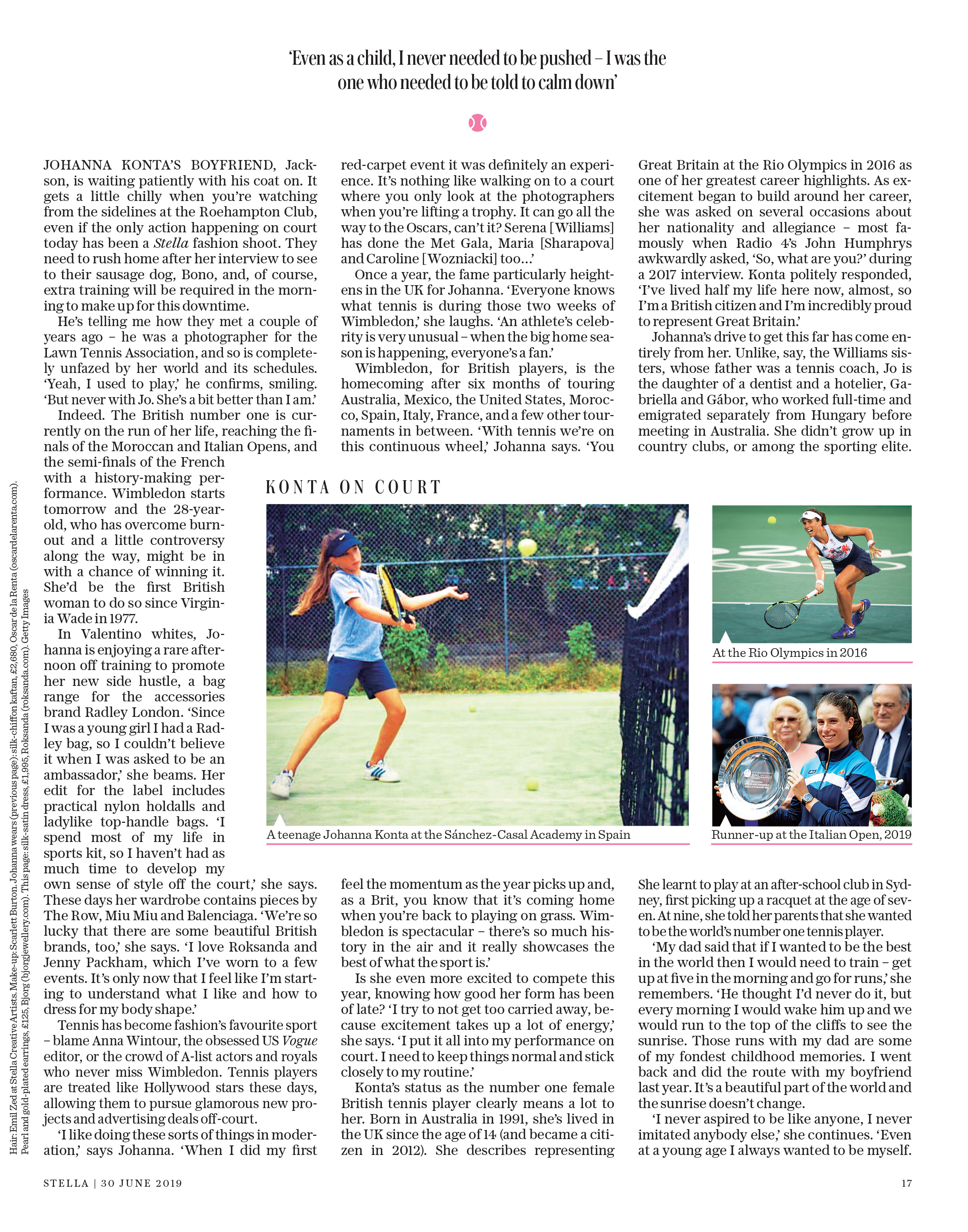 JO KONTA2Sunday Telegraph Magazine_30-06-2019_Main_1st_p17